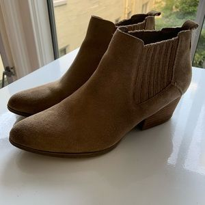 Tan Suede Booties